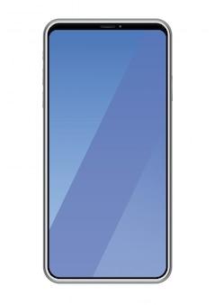 Smartphone isolado em um fundo branco, ilustração vetorial.