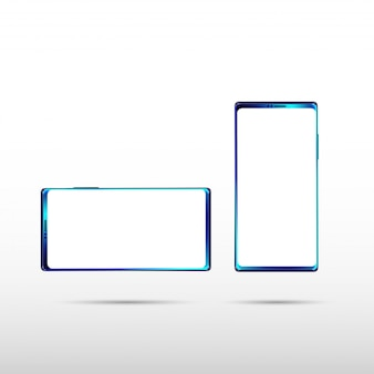 Smartphone isolado moderno no fundo branco