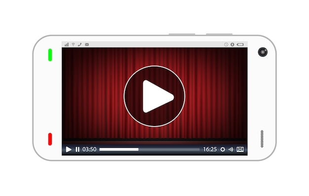 Smartphone jogando um vídeo streaming