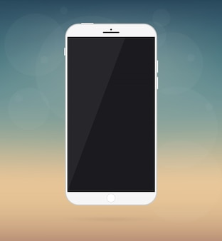 Smartphone, maquete de dispositivo de telefone.