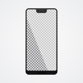 Smartphone mock up com tela em branco sobre branco