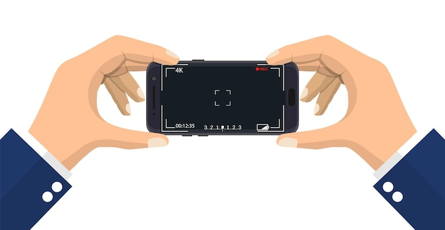 Smartphone moderno com aplicativo de câmera.