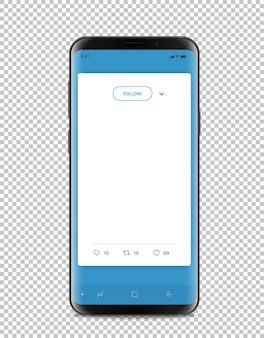 Smartphone moderno com messenger