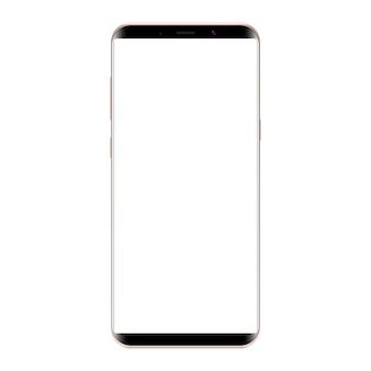 Smartphone moderno. tela branca em branco de cor preta