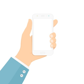 Smartphone na mão.