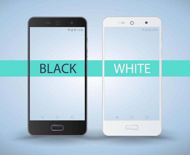 Smartphone preto e branco.