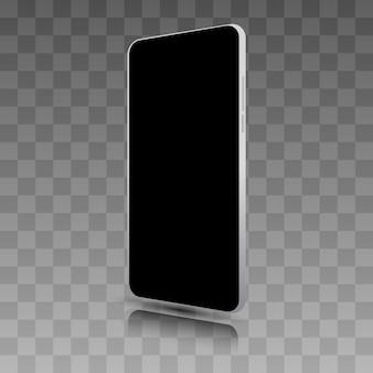 Smartphone realista. quadro de celular com modelos de exibição em branco isolado.