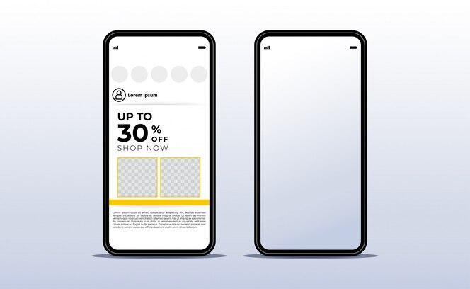 Smartphone. Realistic Front Mobile Device Concept. Modelos de gadgets de tecnologia