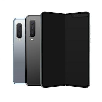 Smartphones. ilustração de vista frontal e traseira.