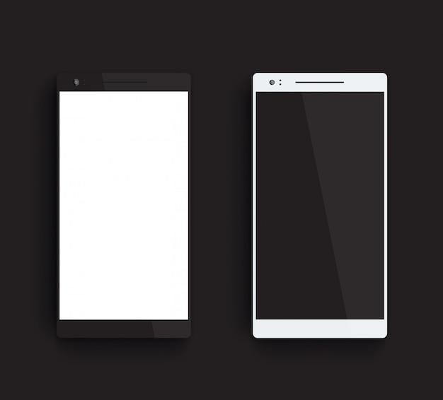 Smartphones preto e prata