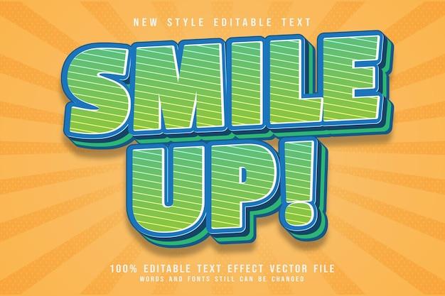 Smile up emboss efeito de texto editável em relevo estilo moderno