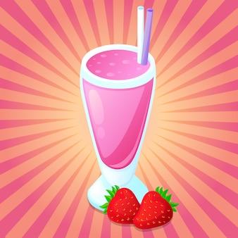 Smoothie detox drink juice morango fruta clip art