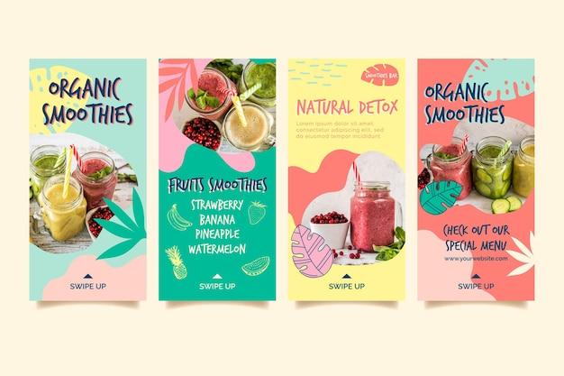 Smoothie orgânico desintoxicação natural instagram stories