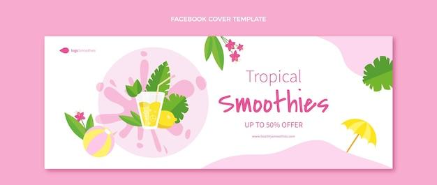 Smoothies de design plano capa do facebook