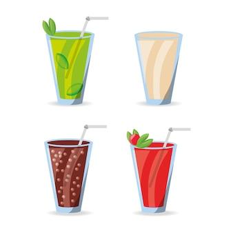 Smoothies refrescos e refrigerantes menu de bebidas