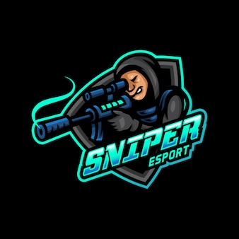 Sniper mascote logo esport gaming