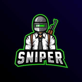 Sniper mascote logotipo esport gaming
