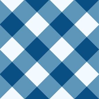 Snorkel azul branco diamante xadrez tabuleiro