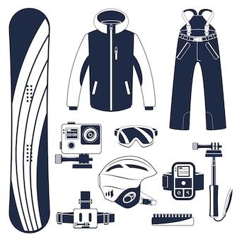 Snowboard. esportes radicais de inverno.