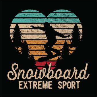 Snowboard sillhouete