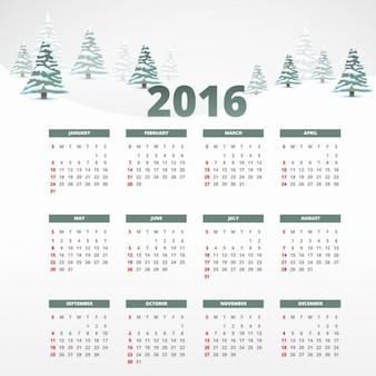 Snowy modelo 2016 calendário