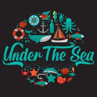 Sob a tipografia do mar