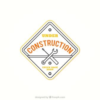 Sob badge construção
