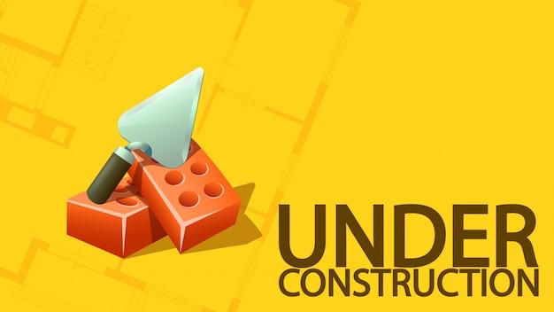 Sob banner de construção