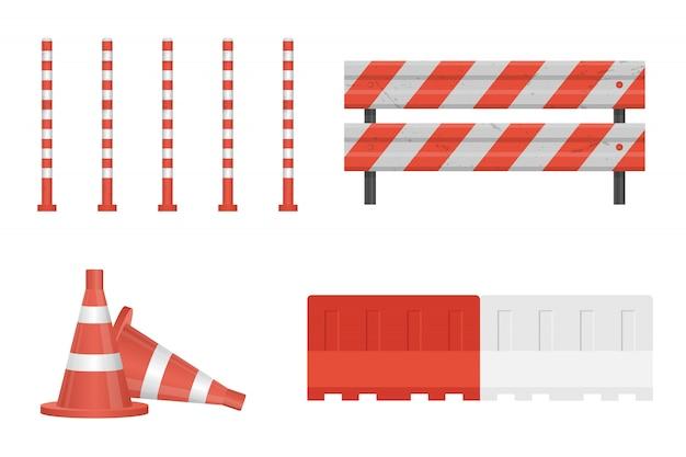 Sob barreira de construção