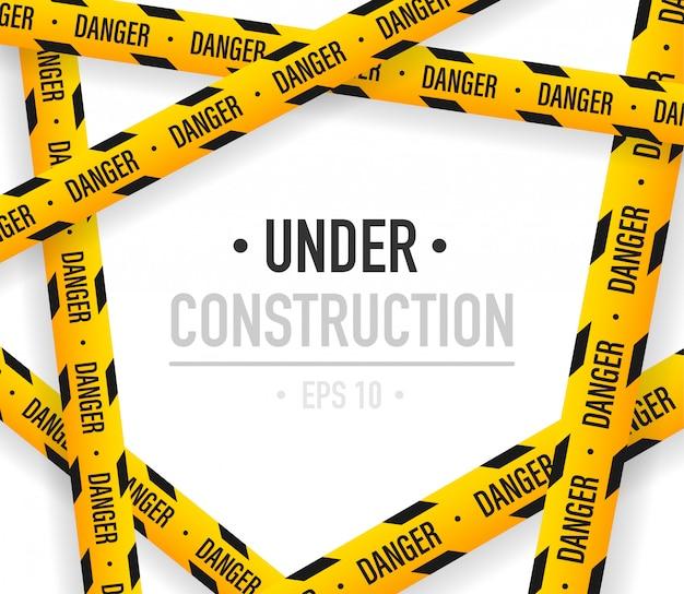 Sob fundo de construção