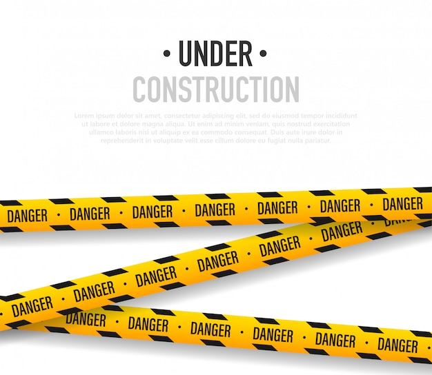 Sob ilustração de construção