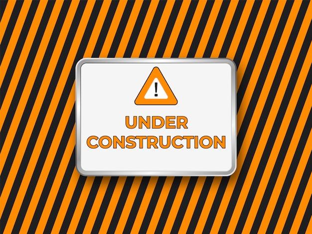 Sob o banner do site de construção