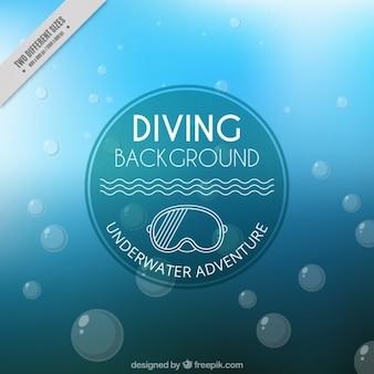 Sob o fundo da água com bolhas