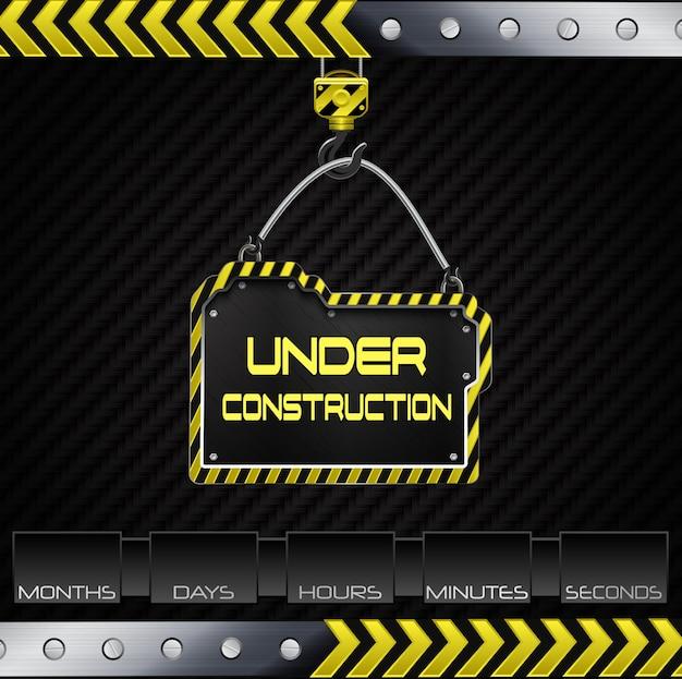 Sob o fundo da construção