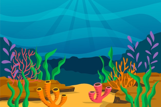 Sob o fundo do mar para videoconferência