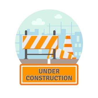 Sob o ícone plano de construção
