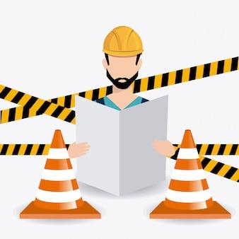 Sob o projeto de construção.