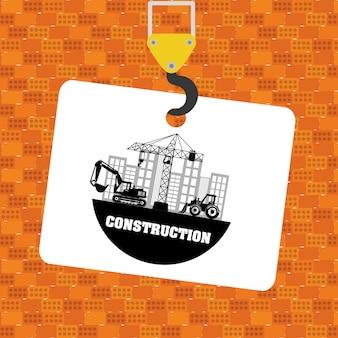 Sob o projeto de construção