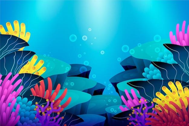 Sob o tema de fundo do mar