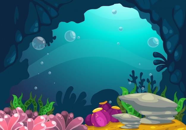 Sob o vetor de fundo do mar