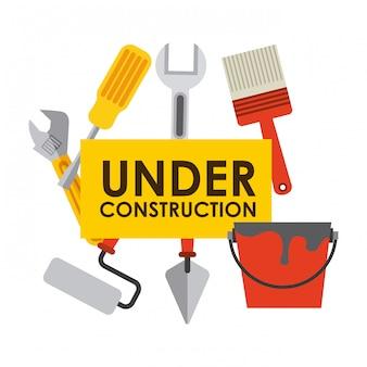 Sob projeto de construção