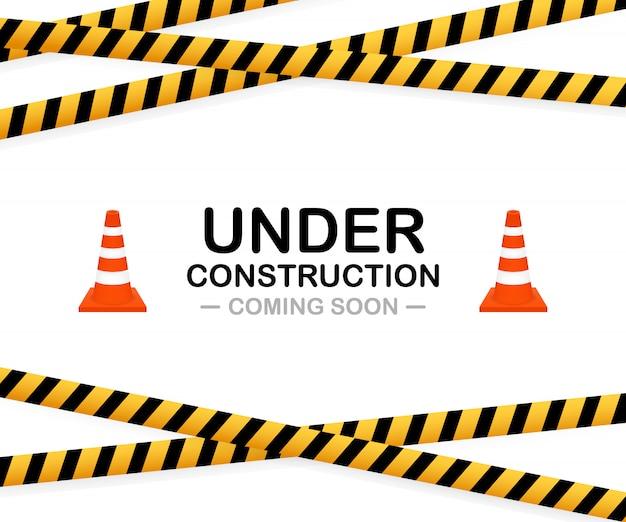 Sob signo de construção. ilustração para o site.