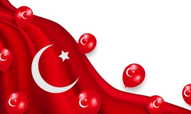 Soberania nacional e dia das crianças. design de balões vermelhos