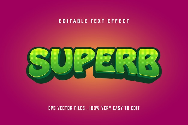 Soberbo - efeito de texto premium, texto editável