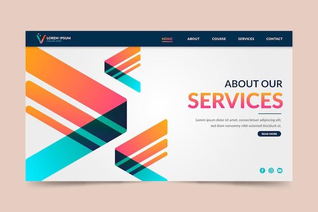 Sobre a página de destino de nossos serviços