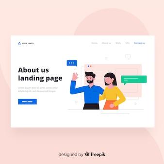 Sobre nós design da página de destino