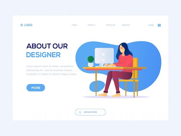 Sobre nossa ilustração da web de designer