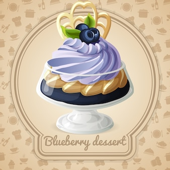 Sobremesa blueberry
