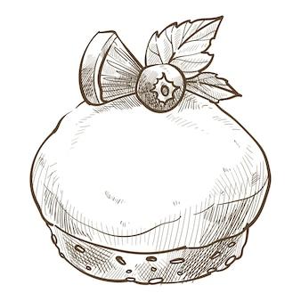 Sobremesa doce servida em café ou restaurante, variedade em padaria