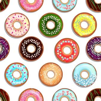 Sobremesas com donuts e bolos.